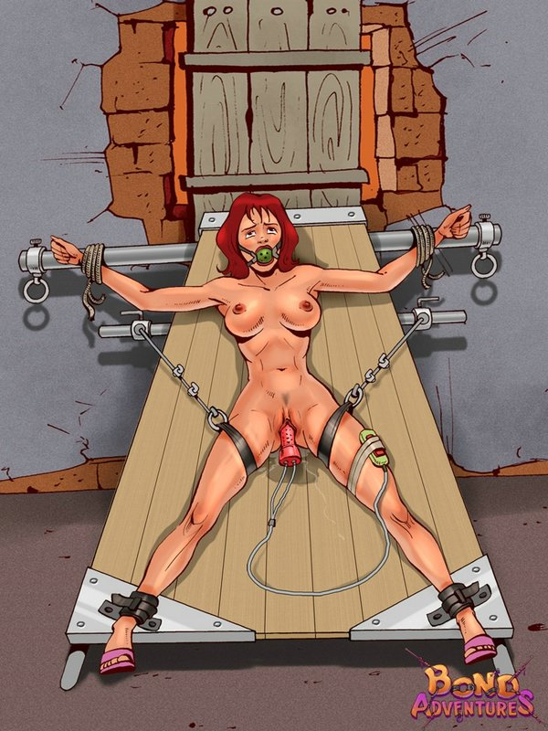 Chicks in extreme bondage made to lay slaves to horny male masters