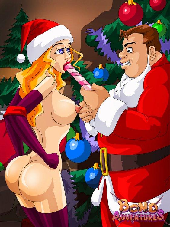 Were visited Christmas bondage cartoons